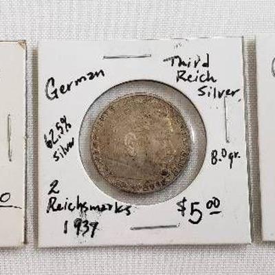 3 German Nazi Currency
