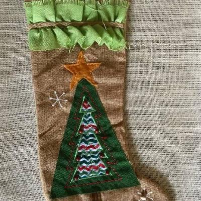 18 Burlap Christmas Stocking