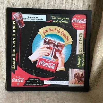 Coca Cola framed Wall Decor