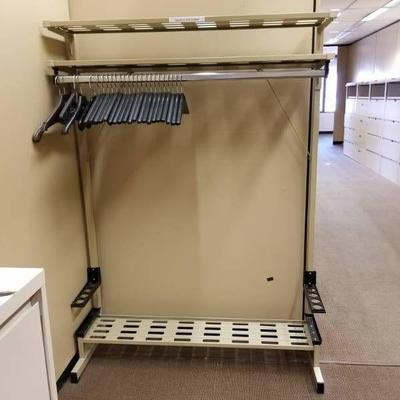 Metal Coat Rack and Umbrella Stand with Overhead S ...