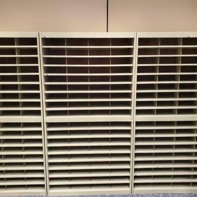Bank of Mail Room Shelving Units