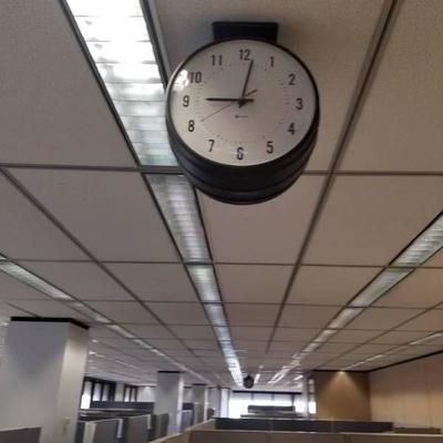 Ceiling Mounted Double Sided Electric Clock