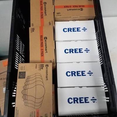 LED 60W 8 Pak light bulbs and 75 LED Watt CREE Rep ...