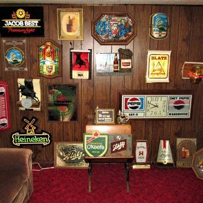 Over 65 beer signs!