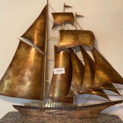 Large Brass Sailing Ship