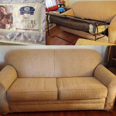 Sealy Posture Royale sleeper sofa in great condition. It has always been  covered. The picture color is off some. It is a tan shade. The...