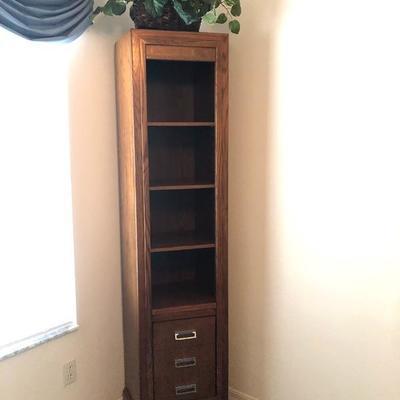 2 Matching Slender Shelf Units w/Storage (Coronado Furn./Mesa, CA) - $145 EA.