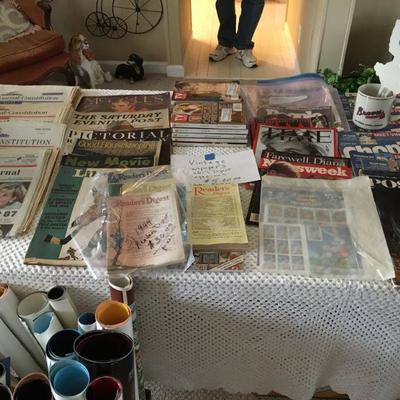 OLD NEWSPAPERS, STAMPS, MAGAZINES, &  MOVIE POSTERS.