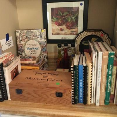 VINTAGE COOKBOOKS, WINE BOX