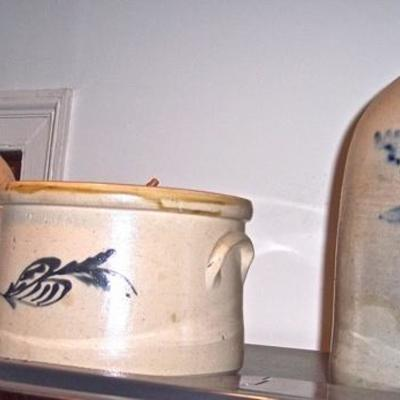 COLLECTION OF STONEWARE JUGS ALL SINGED CHARLESTOWN  -- OWNER WOULD TO SELL AS A COLLECTION