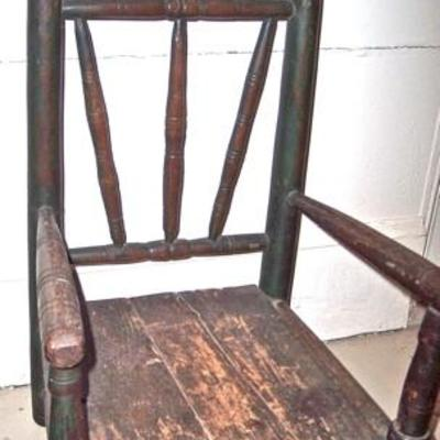 CHILD'S PILGRIM CHAIR APPRAISED FOR 2,200.00, TWO YEARS AGO BY SKINNERS PARTNER/EXECUTIVE VICE PRESIDENT AND CHIEF AUCTIONEER STEPHEN L....