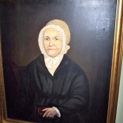 PERIOD AMERICAN OIL ON CANVAS
