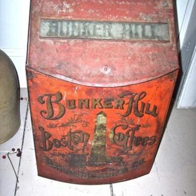 LG. BUNKER HILL BOSTON COFFEES TIN