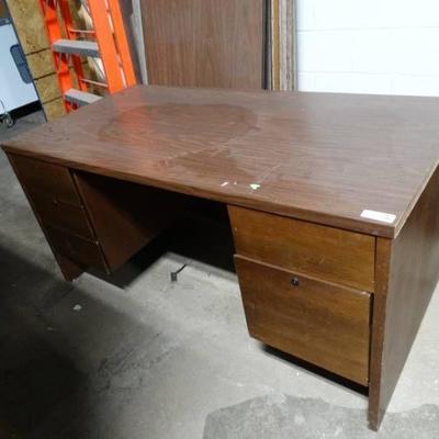 Shop desk wood office desk w drawers