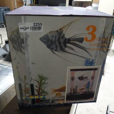 3 gallon complete aquarium kit- New in box