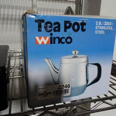New in box Winco tea pot