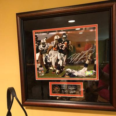 D. Hester #23 Bears signed picture
