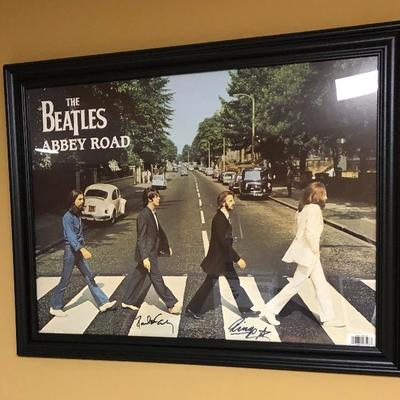 The Beatles Abbey Road signed picture