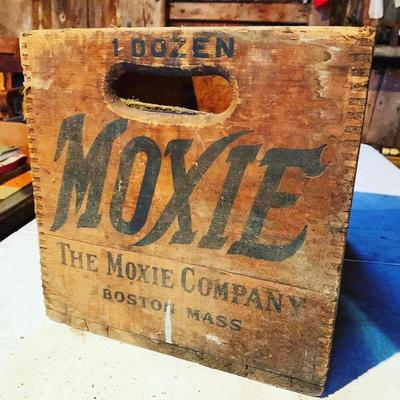 Early MOXIE Boston Mass Crate Box Advertising