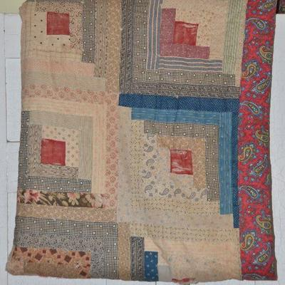 Early handmade quilt quilts