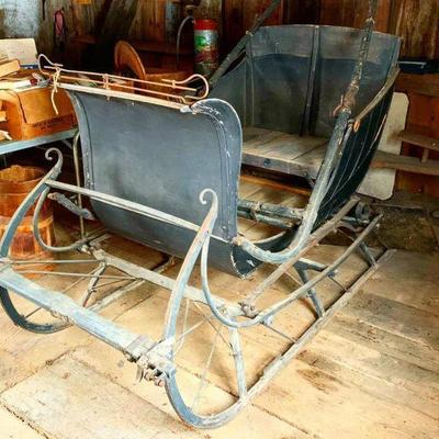 Antique One Horse Drawn Sleigh