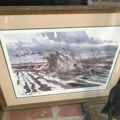 Chet Reneson Signed and Numbered LIthograph