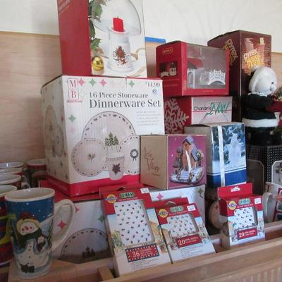 Tons of holiday decor, and craft items