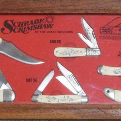 Schrade Scrimshaw Knives