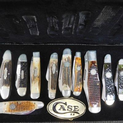 Case of a Few of 200+ Knives That Will Be in the Auction