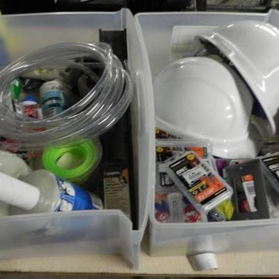 Huge Lot of Hard Hats, Fastener Bits and More