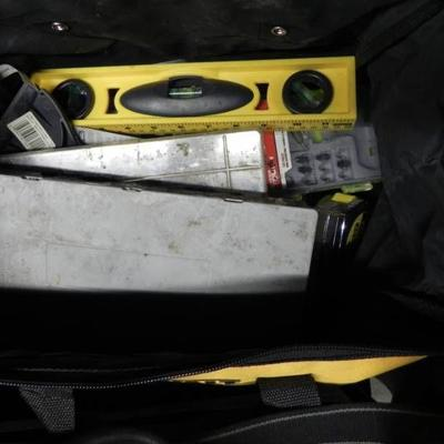 Dewalt Bag with Level, Bits and More