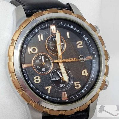 Fossil Wristwatch Model number FS-4545 Measures approximately 48.2mm