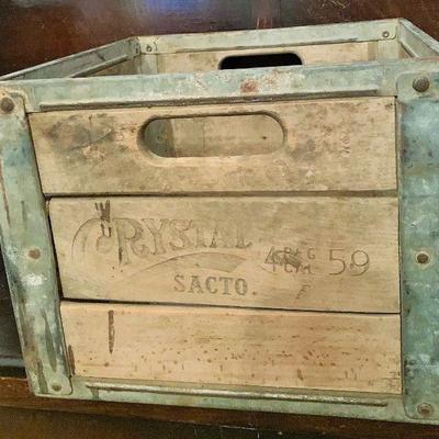 Vintage Crystal Milk Sacramento Milk Crate