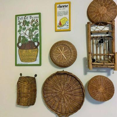 Wall Art and Baskets