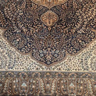 Indian Wool and Silk Blend Rug