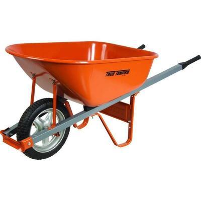 #True Temper Carts & Wheelbarrows 6 cu. ft. Steel W ...