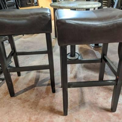 (2) Faux Leather Stools