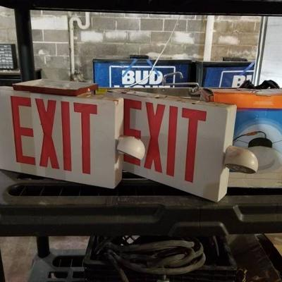 (2) Exit Signs, Recessed Light