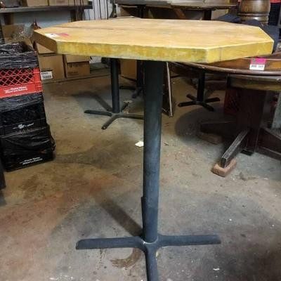 30in High Top Wood Table