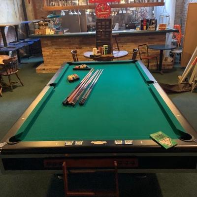 9ft C.L Bailey slate pool table, available pre sale $1650