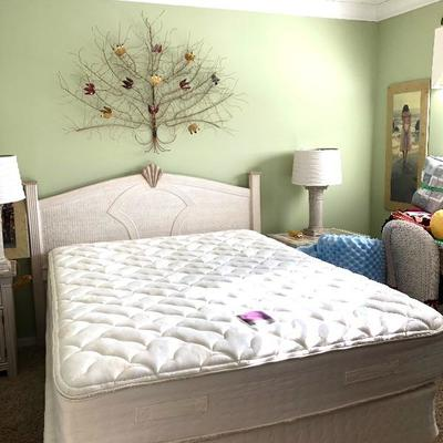 - TWO Matching White Wicker and Solid Surface Queen Bedroom Suites!  Including: 2 White Wicker Queen Headboards - $115 EACH 4 White...