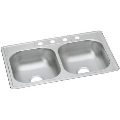 Elkay Dayton 33 Double Basin Drop In Stainless St ...