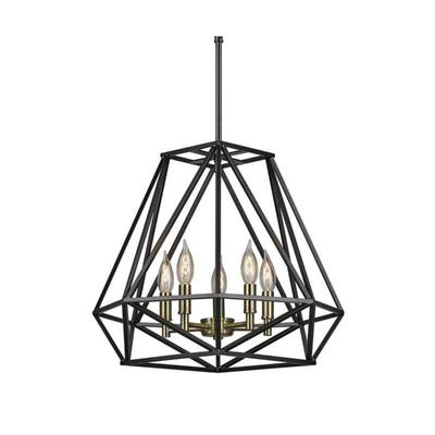 Globe Electric Sansa 5 Light 17 Wide Cage Chandel ...