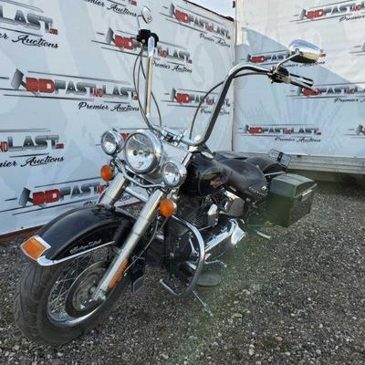 63: 2008 Harley-Davidson Heritage Softail New battery, 96 c.i. Motor, Python Exhaust Tailpipes, aftermarket Ape-Hanger handlebars, new...