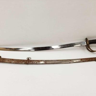 850: Vintage Replica of German WW1 Officers Sword with Scabbard Overall length Approximately 40in