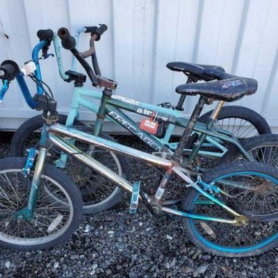 13: Kent, FreeAgent and 1 Unbranded BMX Bicycles Kent, FreeAgent and 1 Unbranded BMX Bicycles