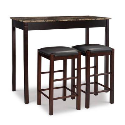 Linon Tavern Espresso Wood Table 3-peice Set