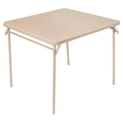 Cosco 34 Vinyl Top Folding Table, Multiple Colors
