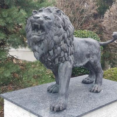 Large Impressive pair of Gatekeeper bronze lions. 60