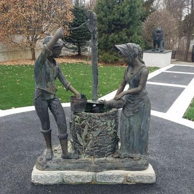 Bronze garden statuary